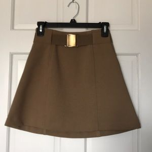 H&M size 4 brown A line skirt with attached belt